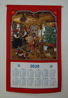 Stoffkalender 2020 ohne Stab und Kordel
