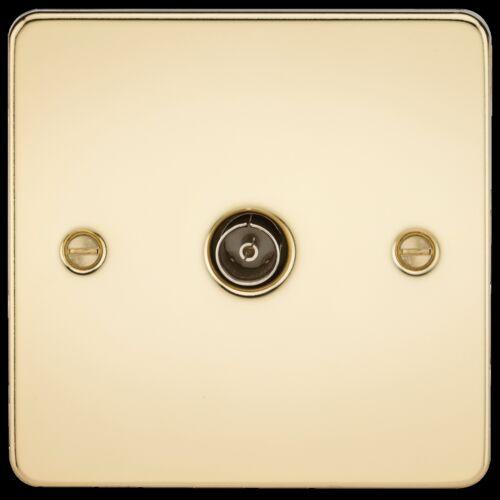 les commutateurs etc gamme complète inserts noir Plaque Plat Laiton Poli 13A Sockets