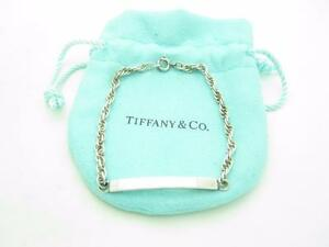 Vintage-Tiffany-amp-Co-Sterling-Silver-ID-Rope-Chain-Bracelet-7-034