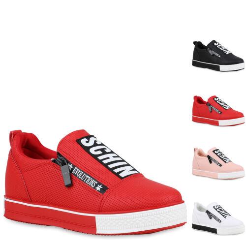 Damen Plateau Sneaker Keilabsatz Turnschuhe Prints Freizeitschuhe 896578 Hot