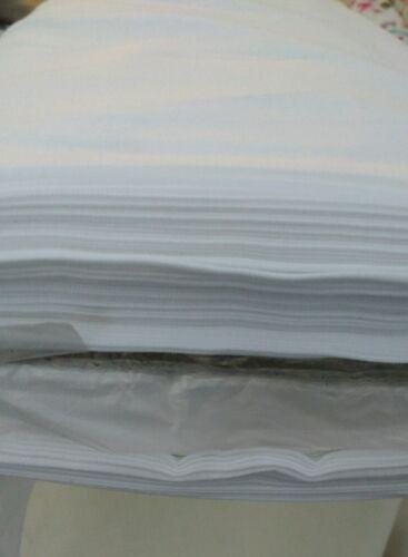 Transpirable//Por Metro// Blanco 100 ℅ Tela de algodón de peso mediano 1.5m Ancho Acolchar