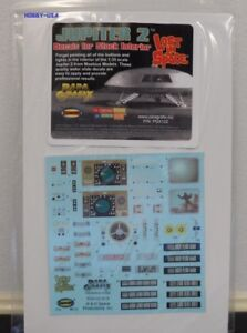 Paragrafix LOST IN SPACE JUPITER 2 DECAL SET FOR STOCK INTERIOR PGX122 Sci-Fi...