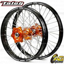 "Talon Evo Wheel Set Black & Orange 21"" Front 19"" Rear For KTM SX 150 2015-2017"