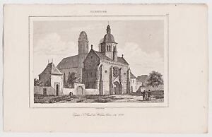 Worms-St-Paul-Kirche-Original-Stahlstich-1845-Lemaitre