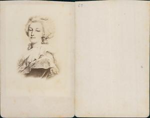 Marie-Antoinette-CDV-vintage-albumen-carte-de-visite-D-039-apres-dessin-T