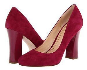 81d3f43237b New  298 Cole Haan Chelsea Hi Flared Heel Suede Patent Pump Shoe ...