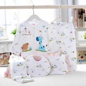 5pcs-0-3-Months-Newborn-Outfit-Set-T-shirt-Top-Pants-Set-Baby-Boy-Girls-Clothes