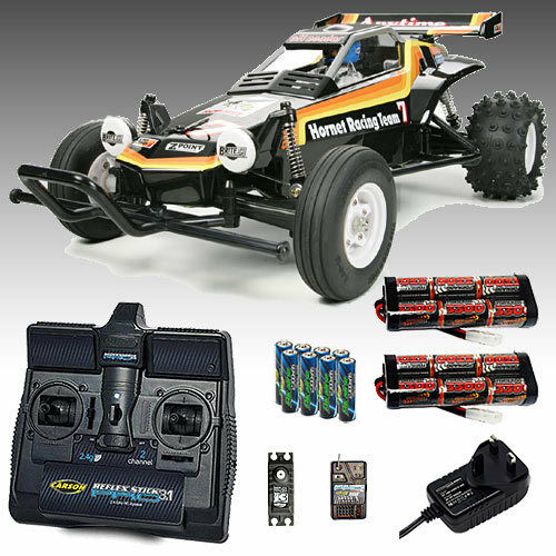 TAMIYA The Hornet RC Car Deal Bundle. Radio, 2x 3300 Battery & Charger 58336