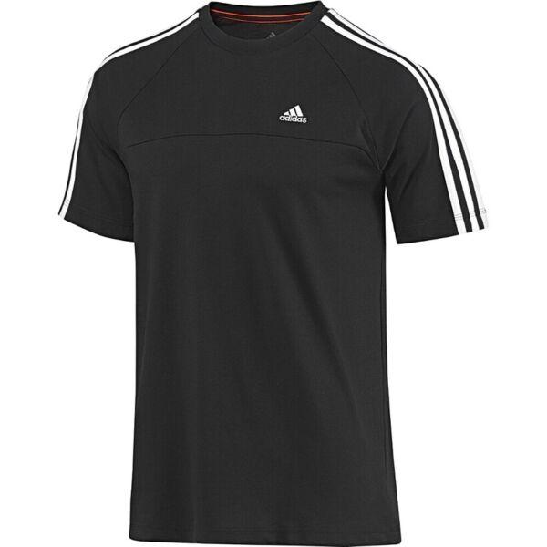 Acquista A Buon Mercato Adidas Ess 3s Crew Tee T-shirt Da Uomo Sport Tempo Libero Climalite Men Nero/bianco