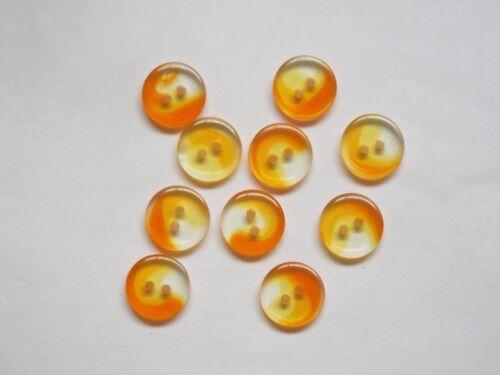 10pc 15 mm llama naranja e incoloro Bebé Niños Cardigan De Punto Botón 1298
