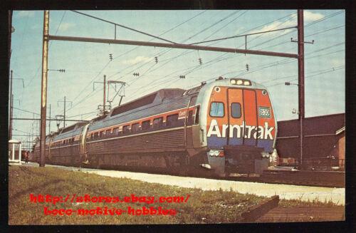 LMH Postcard AMTRAK Passenger Commuter Train METROLINER #830 Phily Harrisburg PA