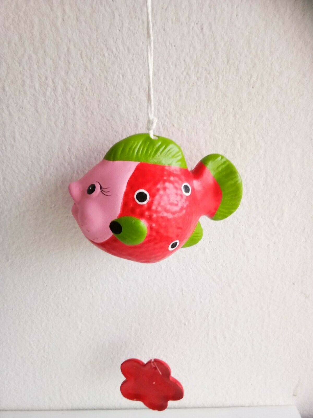 Red Fish Wind Chime Mobile kinetic Hanging Eco Friendly Baby Nursery Décor Art