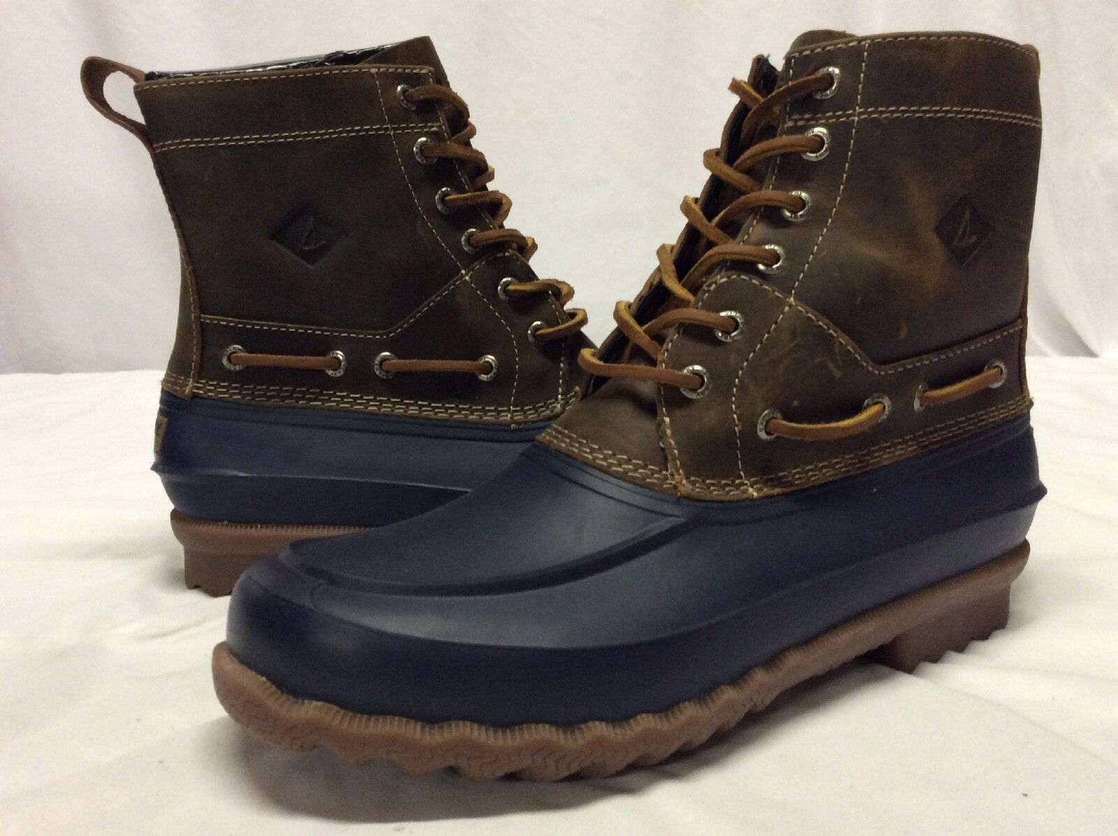Sperry Top Sider  Saltwater WP Boots Men's, Navy Tan, Size 9, Eur 42