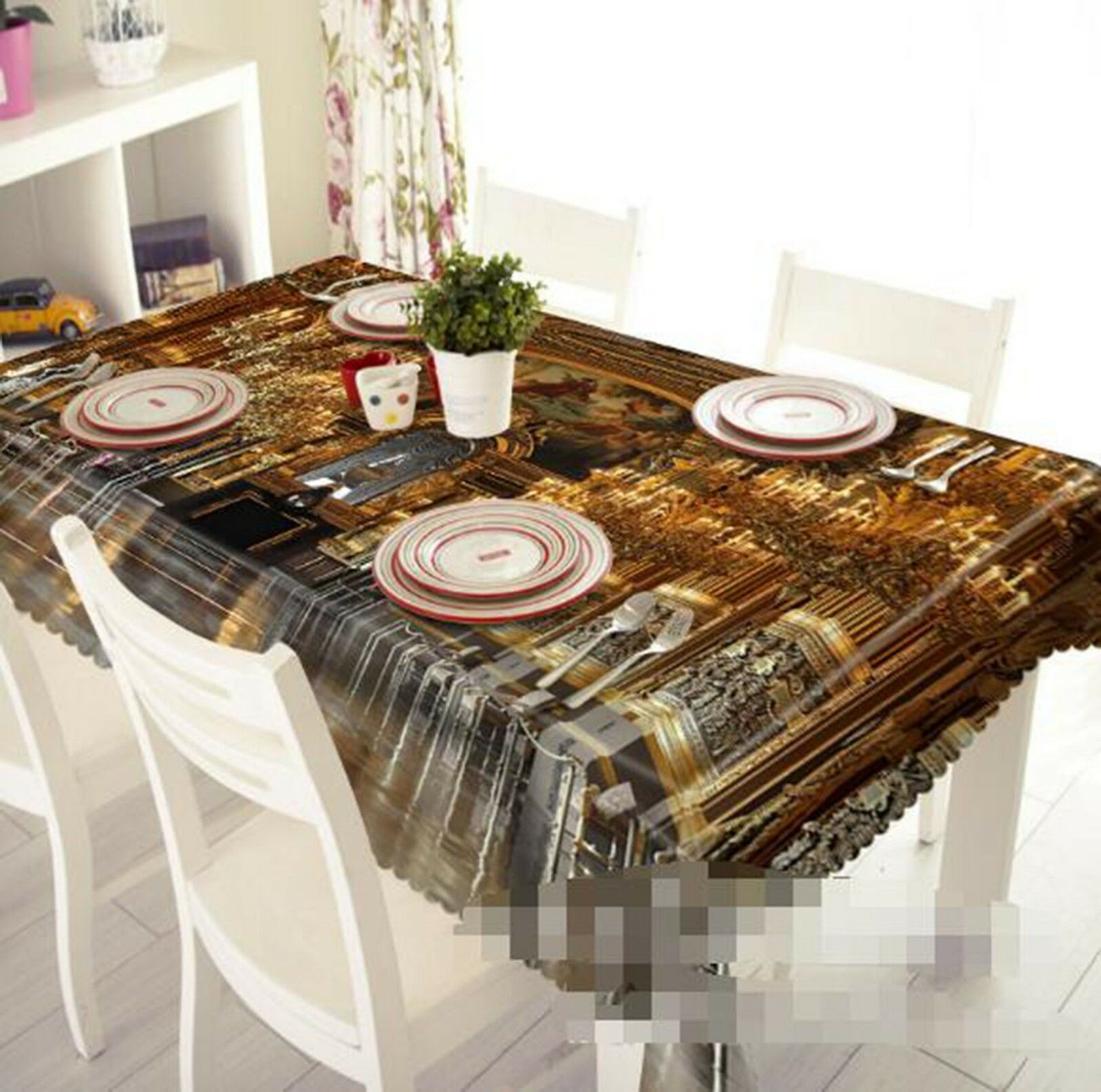 3D or Building 02 Tablecloth Table Cover Cloth Birthday Party Event AJ Lemon