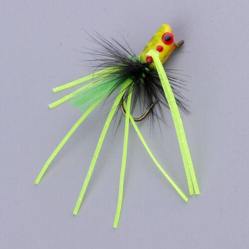 Fly Dry Fishing Floating Popper fliegt künstliche Fischköder hellgelb
