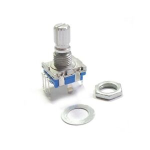 1PCS-Rotary-encoder-with-switch-EC11-Audio-digital-potentiometer-15MM-handle-CA