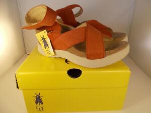 FLY-London-Weel-Open-Toe-Casual-Platform-Sandals-Scarlet-Women-Sz-10-10-5-US-NIB