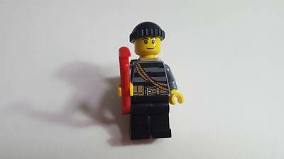 City BURGLAR - Mint Minifig Mini Figure LEGO Minifigure Black Hair /& Mask