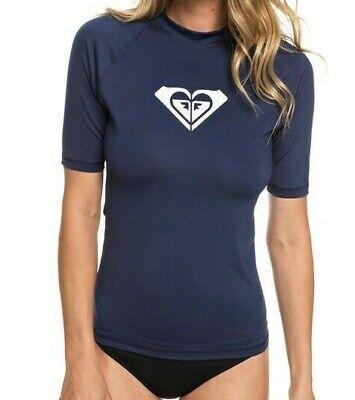 ROXY WOMENS RASH T SHIRT.NEW ENJOY WAVES UPF50 SUN PROTECTION BLUE TOP 8S 23 B
