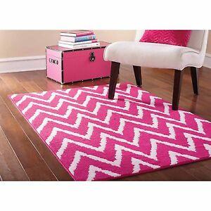 kids girls Pink rug for bedroom playroom Girl room Modern Chevron ...