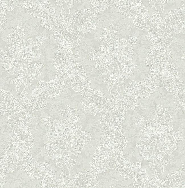 Tapete, Designtapete, Seideneffekt, Spitze, Borten, Ornamente, Ytong, Kiesel