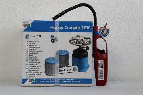 52448 CFH Set Cartouches Réchaud Happy Camper avec 2 cartouches Camping Réchaud
