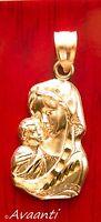 Real 10k Jesus & Virgin Mother Mary Pendant Charm Piece Diamond Cut Design