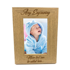 Personalised-Wooden-Photo-4-x-6-Frame-Custom-Engraved-Any-Message-FW28246