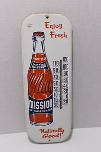Antique Mission soda orange Publicité thermomètre SIGNE-afficher le titre d`origine a85f8wkU-09091447-853066860