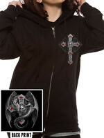 Official Anne Stokes - Gothic Guardian -  Unisex Black Zip Up Hoodie