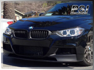 Front Replacement Hood Matte Black Grille For Bmw F30 12 16 320i