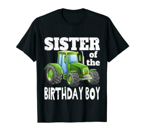 Sister of Birthday Boy Kids Farm Tractor Party Shirt Idea
