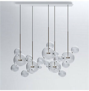 Nordic glass bubble pendant lamp chandelier ceiling light new image is loading nordic glass bubble pendant lamp chandelier ceiling light aloadofball Choice Image