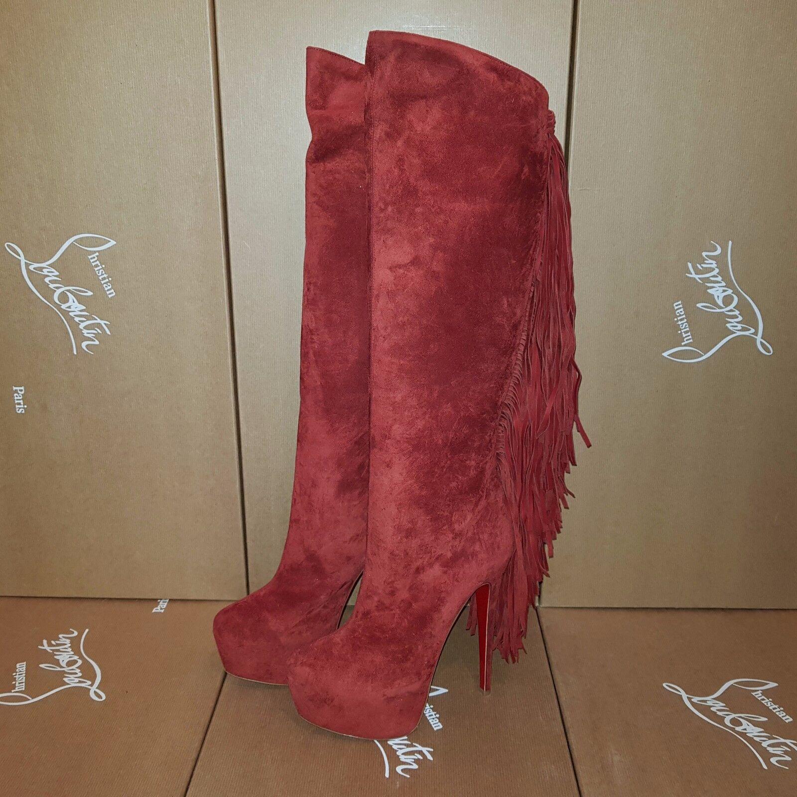 CHRISTIAN women's LOUBOUTIN Interlopa 160 Veau women's CHRISTIAN Stiefel FR 40,5 US 10,5 UK 7,5 920232