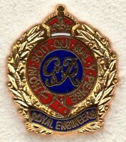Enamel Lapel Badge Royal Engineers Kings Crown