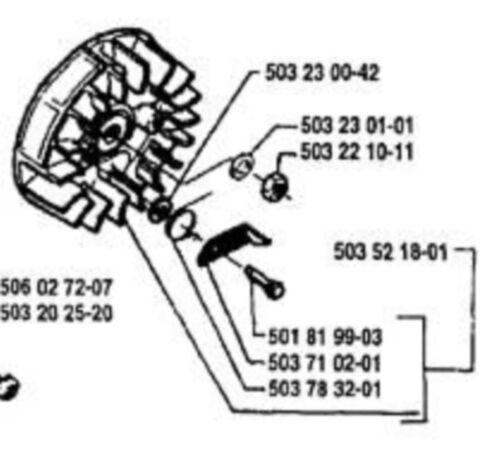 2 starter pawls Genuine HUSQVARNA 503710203 chainsaw models listed US Seller