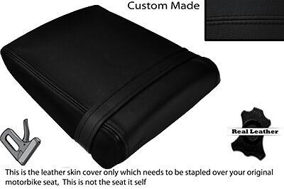 BLACK STITCH CUSTOM FITS SUZUKI RGV 250 SP VJ22 REAR LEATHER SEAT COVER