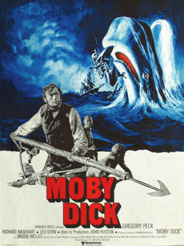 Moby Dick Gregory Peck cult movie poster print