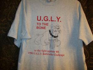 Ugly-To-The-Bone-Bartender-MS-T-Shirt-Tee-XXL-Emo-Dog
