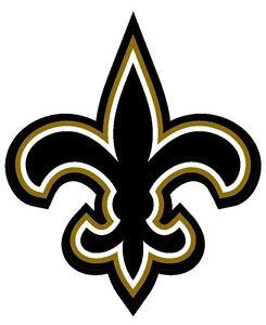 4x4 Inch Fleur De Lis Shaped Sticker Decal New Orleans Saints Logo