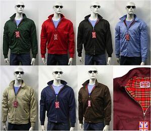 Harrington Jacket New Mens Made In England Tartan Lined Cream XS S M L XL XXL