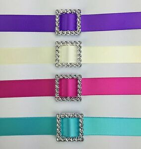 50 Acrylic Square Ribbon Slider Buckle 2.4cm Scrapbooking Wedding Invitations