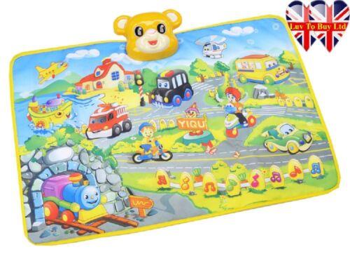 Flugzeug Stimme von Autos pädagogische Spielmatte Baby-Musik-Teppich Zug
