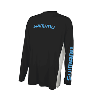 Shimano Long Sleeve Tech Tee Carbon Large Polyester # ATEEVAPLSLCAR