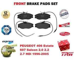 POUR-PEUGEOT-406-Break-607-Saloon-2-0-2-2-2-7-HDI-1996-2005-Plaquettes-Frein-Avant-Ensemble