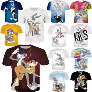 73b5ef5d6b82 3D Print T-Shirts Bugs Bunny Mens Womens Cartoon fashion Summer ...