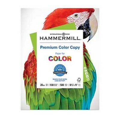"Spirited Hammermill 8-1/2 X 11"" Color Copy Digital Paper 100 Bright Ream At All Costs 28lb"