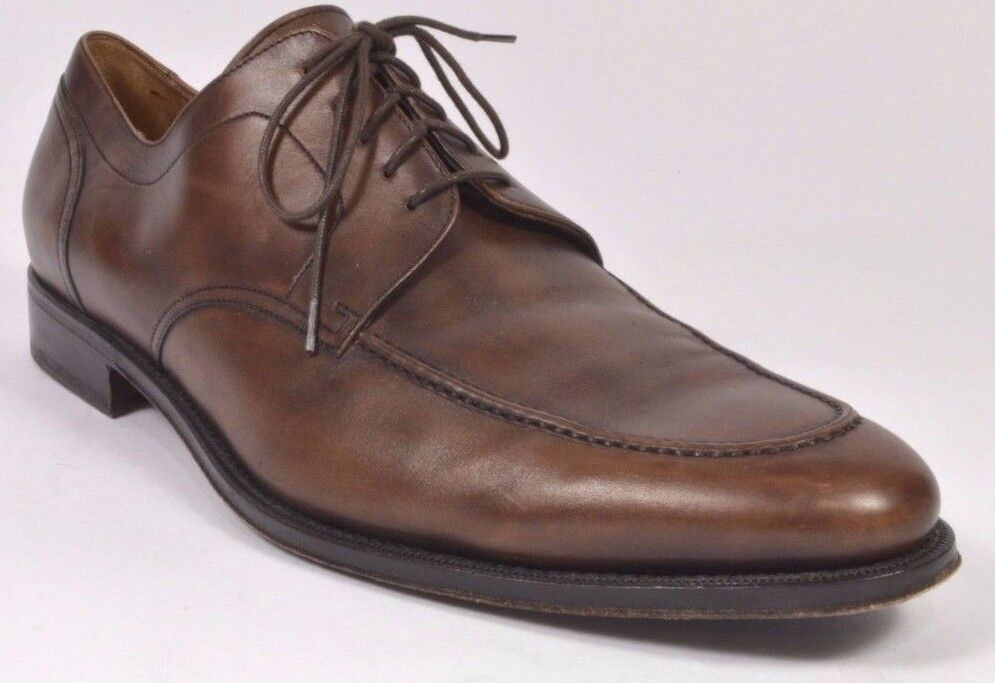 Cole Haan CARTER GRAND Mens Split Toe Oxford Shoes 10 M Brown USED
