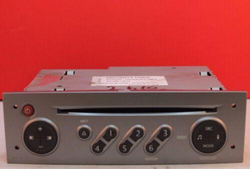 renault megane clio updatelist cd radio player code philips 2005