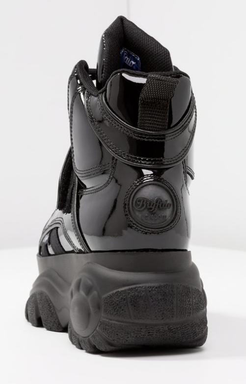 Buffalo London 1348-14 2.0 schwarz schwarz charol - NEU - - - grössen 36 bis 45  9f2986